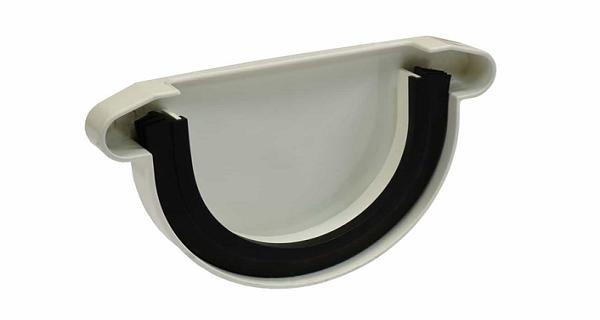 Заглушка желоба NORDSIDE 125 мм, белый