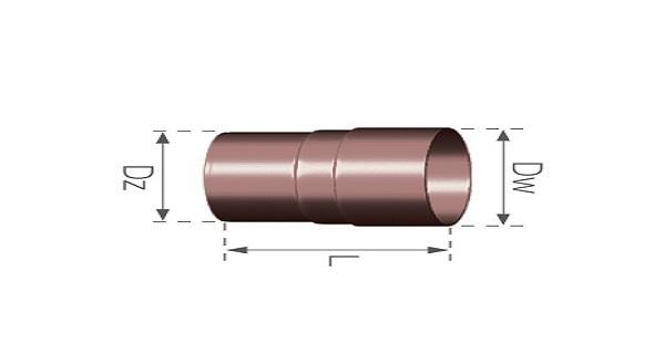 Муфта трубы BRYZA 90 мм (белый/коричневый)