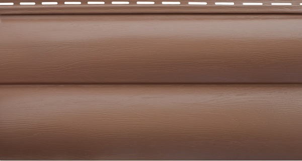Блок-хаус двупереломный красно-коричневый