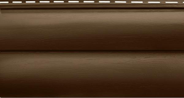 Блок-хаус двупереломный темный орех