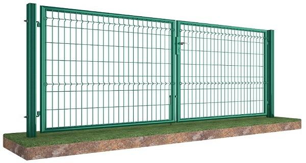 Ворота распашные оц+ППЛ высота створки от 1,53 м до 2,4 м, ширина 4,0 м
