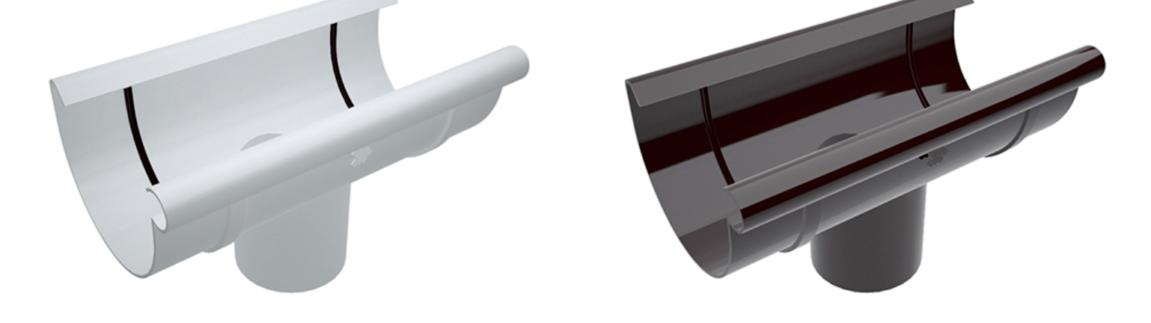 Воронка сливная MIRIDA 135/90 мм, (белый/коричневый)