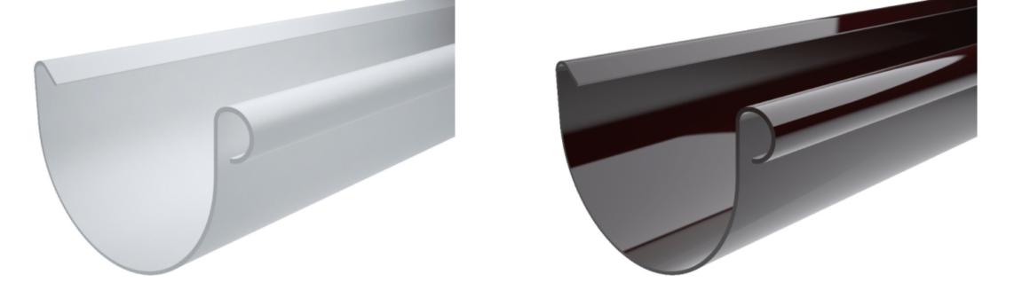 Желоб водосточный MIRIDA 135 мм/ 3 м, (белый/коричневый)